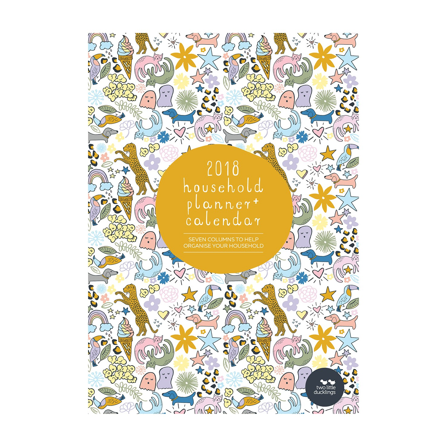 Two Little Ducklings Family Planner 2017 (month).4
