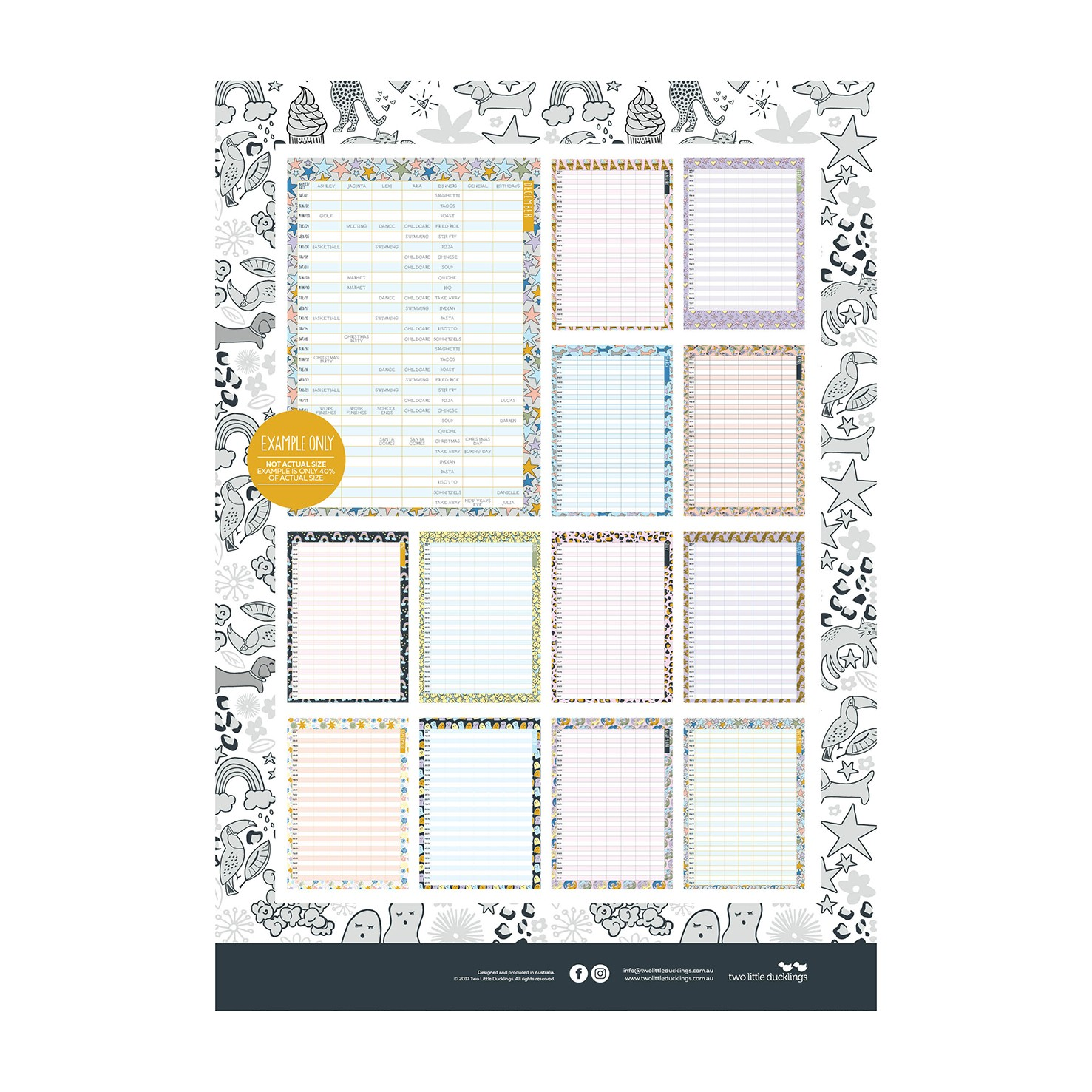 Two Little Ducklings Family Planner 2017 (month).44