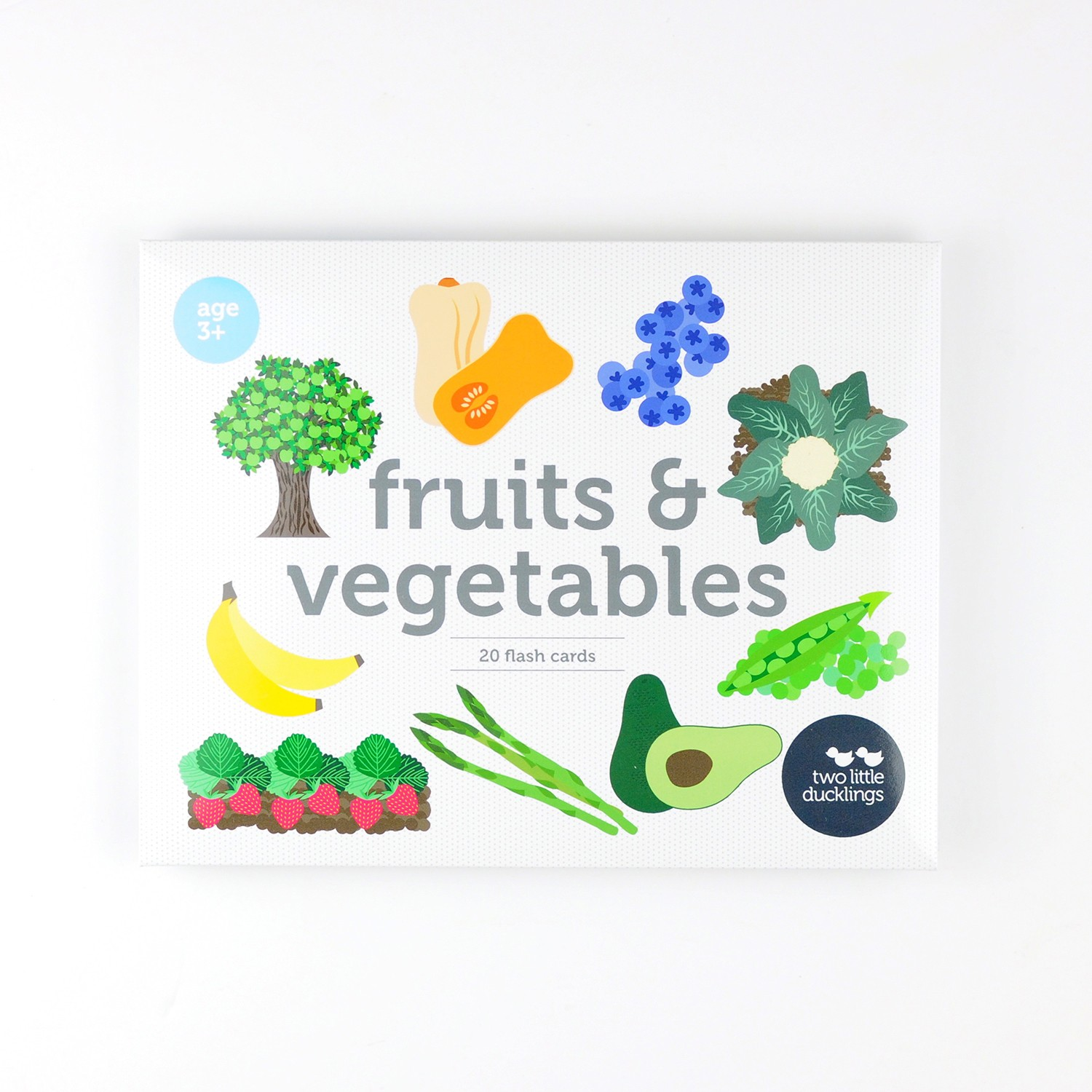 2LD Fruit and Vegetables Flash Cards