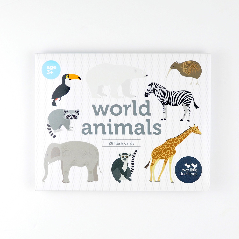 2LD World Animals Flash Cards