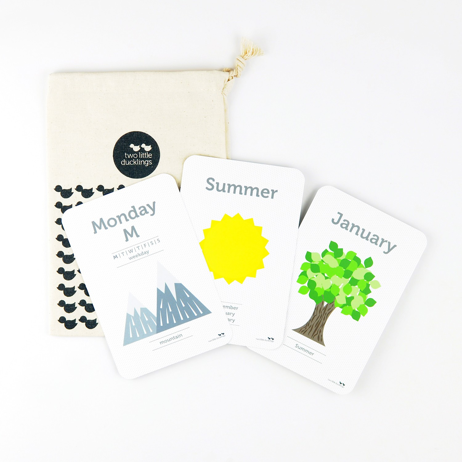 2LD Days, Months and Seasons Flash Cards Inside