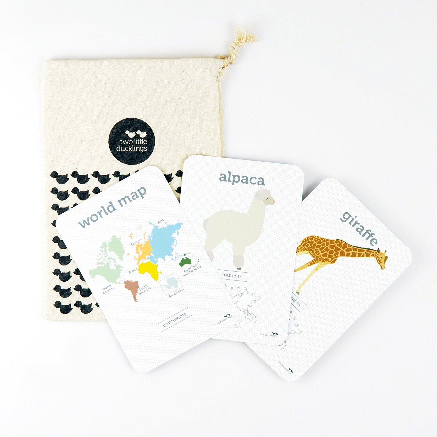 2LD World Animal Flash Cards Inside